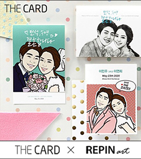The card / digital popart , pecil portrait